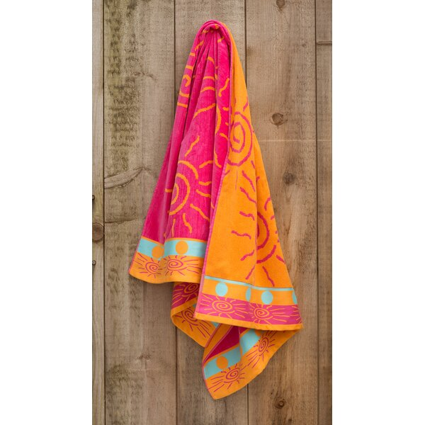 Sun Fun Jacquard Weaved 100% Cotton Beach Towel by St.Tropez Sands